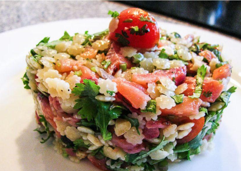 Паста – салат с рыбой