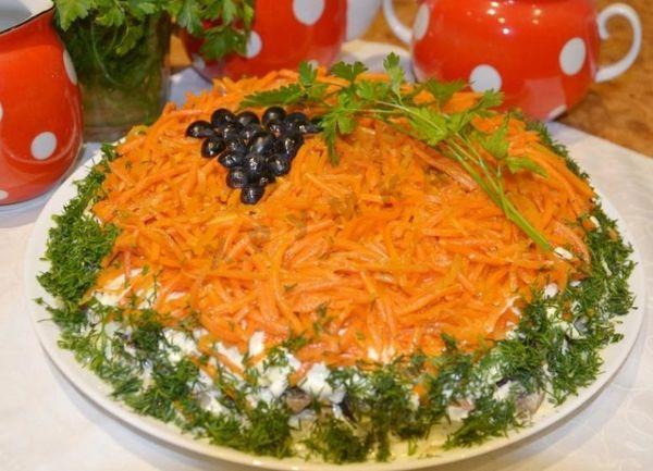 Салат «Изабелла» с грибами