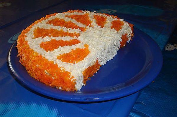 Слоёный салат «Долька апельсина»