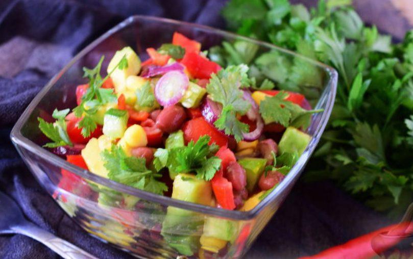 Мексиканский салат из овощей