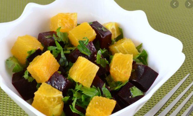 Салат из свеклы с апельсинами